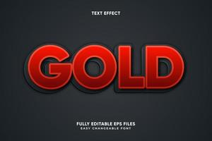 Bold red text effect vector