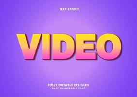 Pink and yellow gradient text effect vector