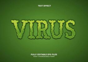 efecto de texto de virus verde áspero