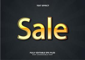 Gold metallic text effect vector