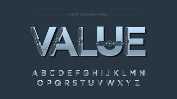Futuristic Decorative Uppercase Typography vector