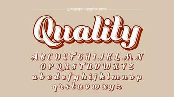 Modern Calligraphy Text Effect for Labels vector