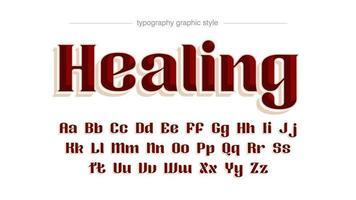 elegante tipografía serif retro rojo vector