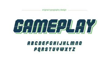 Dark Green Chrome Futuristic Typography vector