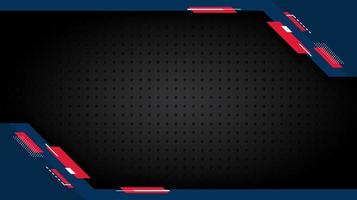 Blue and red angled corner shapes over grate texture vector