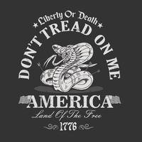 Snake with Don't Tread on Me and Other Text