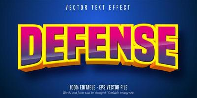 Defense curved pink and purple gradient text effect vector