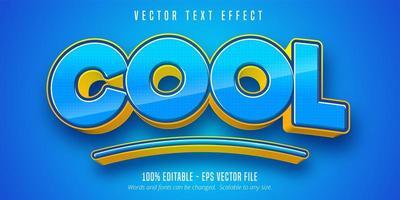 efecto de texto subrayado azul fresco vector