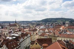 vista de la ciudad de praga foto
