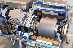 Hybrid vehicles of transmission photo