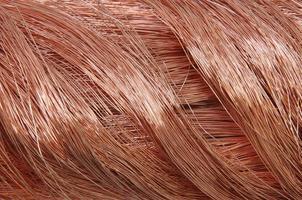 alambre de cobre para la industria energética foto