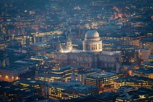 Top view of St. Paul's cathedral, London England, UK
