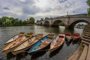 Boats for hire by Richmond Bridge photo