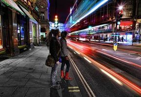 Long exposure on Shaftesbury Avenue, London photo