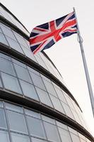 The Union flag and London City Hall