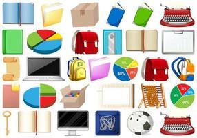 Office, Household, Toys, Sport Equipment Set vector