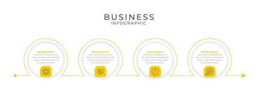 Yellow circle design business infographic template