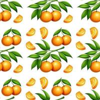 patrón naranja transparente aislado en blanco
