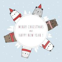 Merry Christmas Greeting and Celebration Card