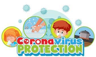 cartel de '' protección del coronavirus '' vector