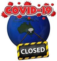 Poster COVID-19 Theme with Earth Closed
