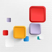 Abstract modern square geometric background vector