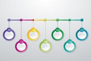 cronograma de negócios infográficos de fluxo de trabalho com cronograma pendurado design