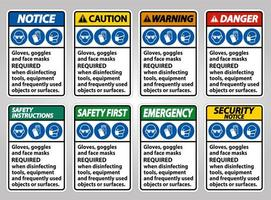 Protective Equipment Required  Sign Collection