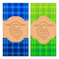 Happy fathers day template banner plaid design