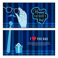 Fathers day template design banner set for print