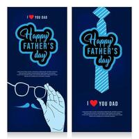 Happy Father's Day Template Vertical Banner vector