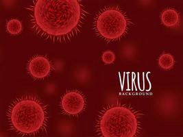 Modern red color virus background