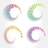 patrón de puntos abstractos creativos en movimiento circular vector