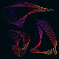 buntes fraktales abstraktes Formsymbol vektor