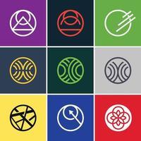 Abstract circle icon sets vector