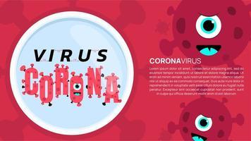 parando, vírus corona, covid-19, banner vetor