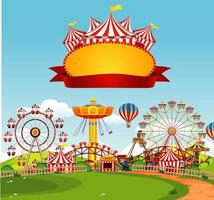 Circus Scene with Sign Template