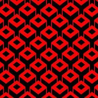 3D Square Cubic Box Pattern Background vector