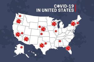 carte de propagation des coronavirus vecteur