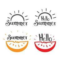 ensemble de logo d'été