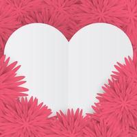 tarjeta de San Valentín con corazón blanco vector