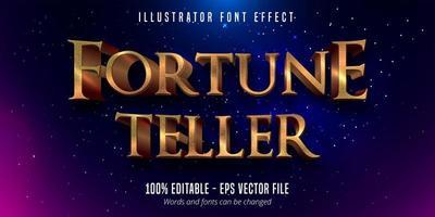 klassischer editierbarer Schrifteffekt aus 3D-Goldmetallic vektor