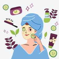 Women self-care at home