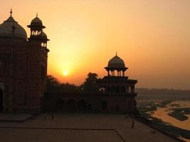 Indian Mosque at Sunset photo