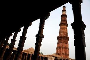 qutab minar, delhi, india, patrimonio mundial de la unesco.