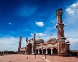 jama masjid mezquita musulmana más grande de la india. Delhi foto
