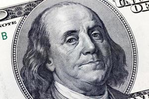 Benjamin Franklin 100 dollar bill photo