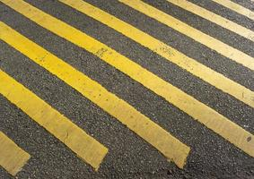 Yellow striped road sign