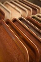 Wooden trays photo