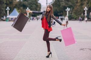 calle comercial de moda foto